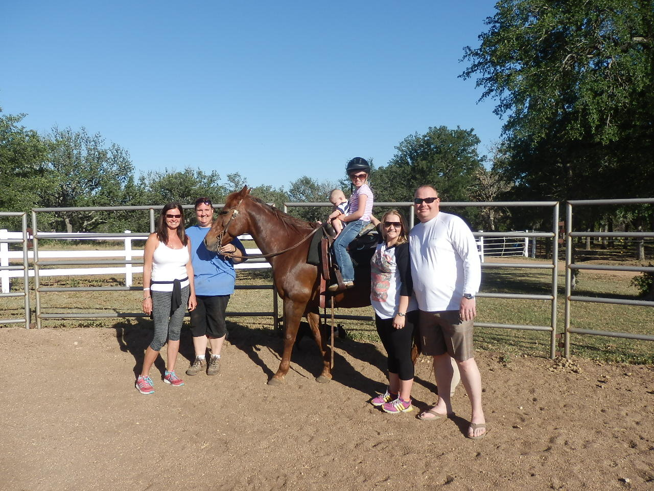 Grandmother and Grandfather, Mom and Dad and my brother  with my new horse!